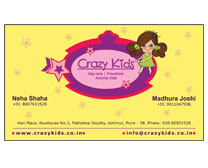 Crazy Kids Visiting Card